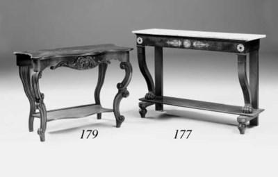 A mahogany console table, part