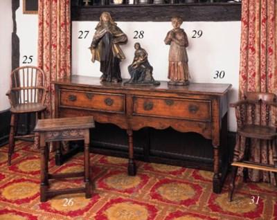 An elm and beechwood dresser,