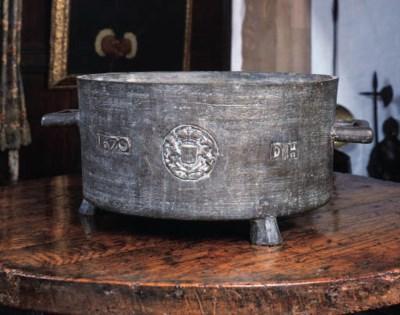 A Charles II leaded bronze twi