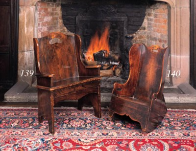 An elm child's armchair, North