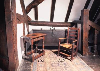 An oak plank chest, English, 1