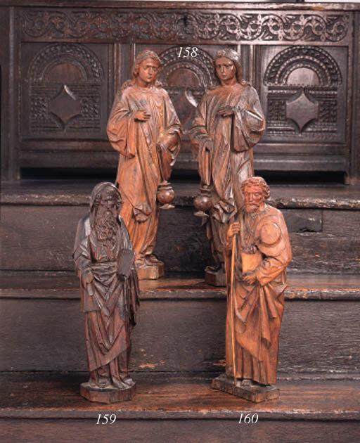 A German carved oak figure of