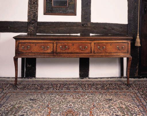 An oak dresser, English, mid 1
