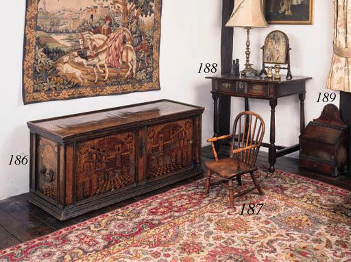 An oak side table, English, ea