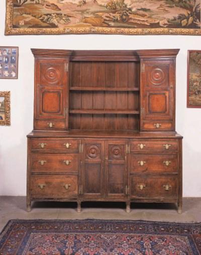 An oak and inlaid dresser, pro
