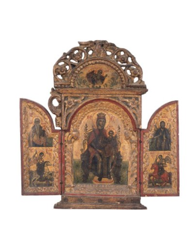 A Greek triptych of the Mother