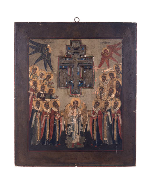 Russian icon of the Crucifixio