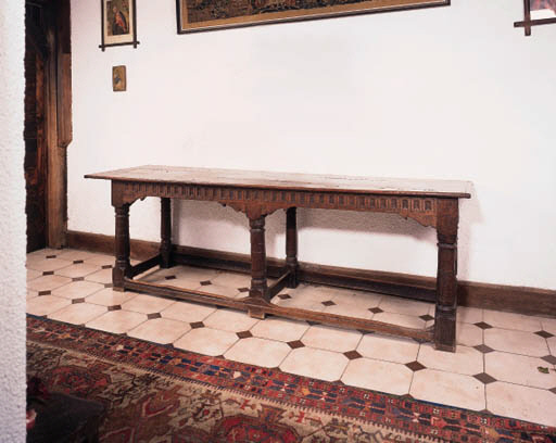 An oak six leg refectory table
