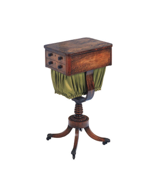 A Regency rosewood work table