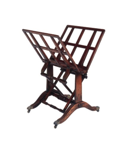 A Regency rosewood folio stand