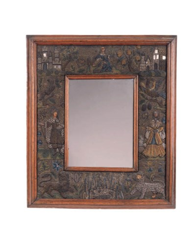 An English beadwork mirror, se