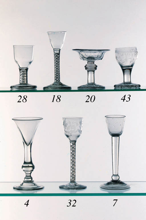 A balustroid wine glass
