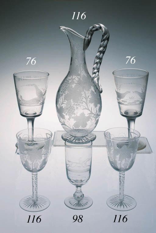 A commemorative racing goblet