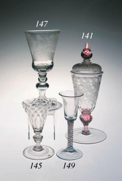 A Bohemian engraved goblet