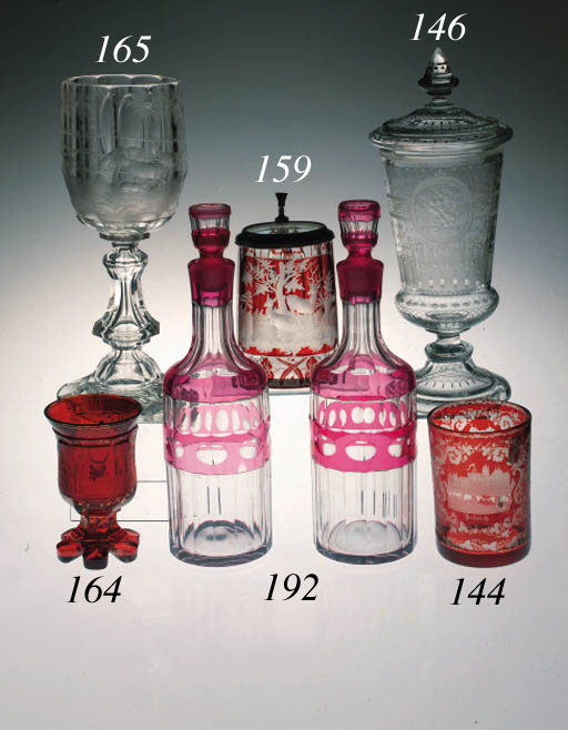 A Bohemian clear and engraved