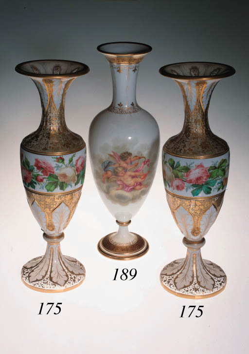 An opaque-white enamelled and