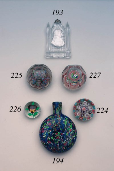 A French millefiori weight
