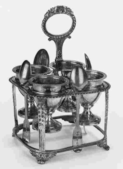 A George IV egg frame