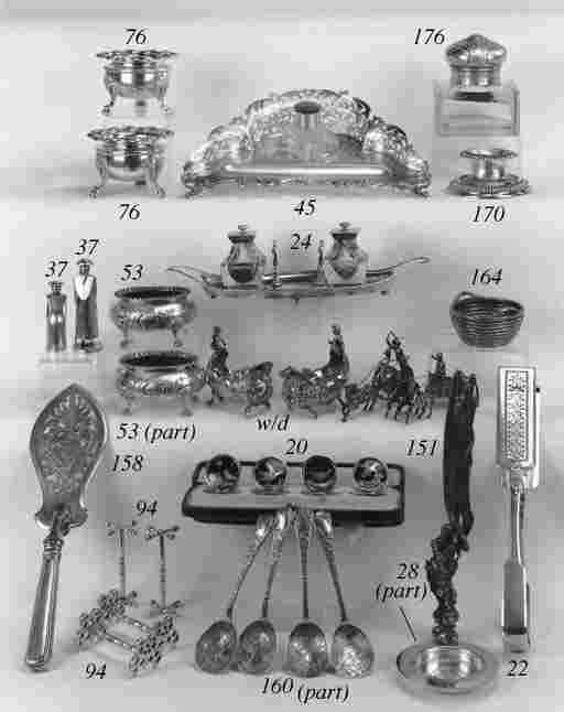 A Victorian inkstand,
