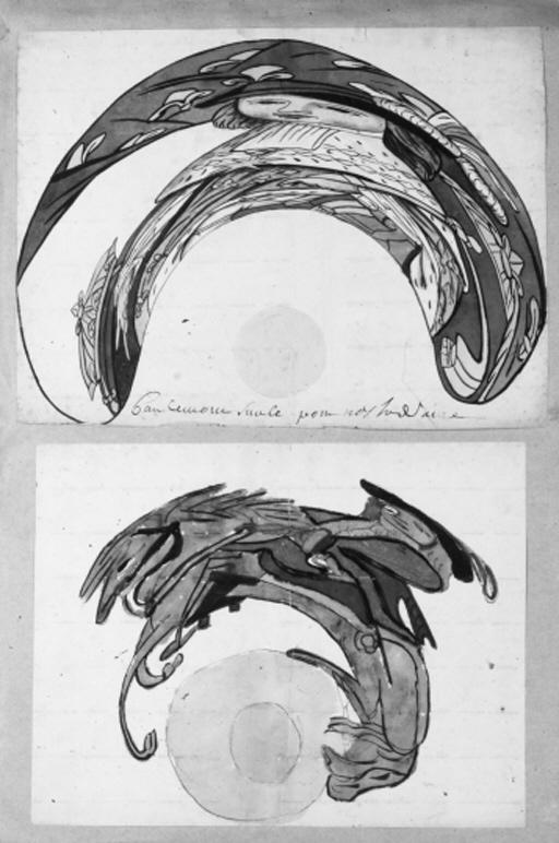 Anamorphic watercolours