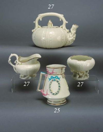 A Belleek 'Florence' jug