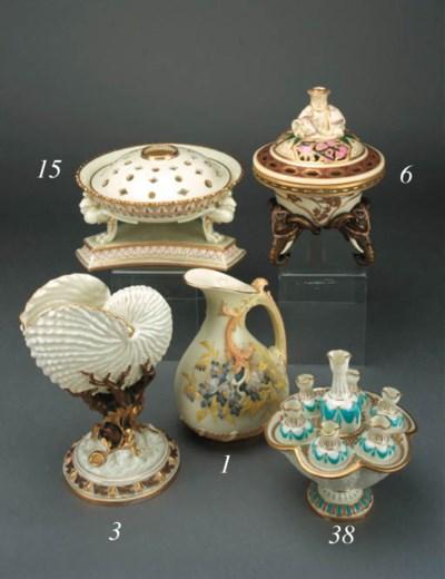 An English glazed parian vase