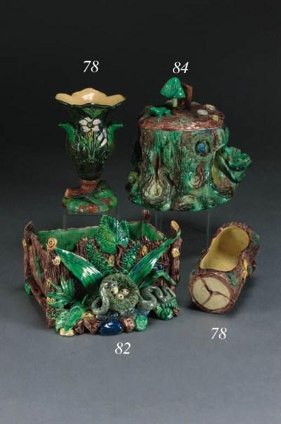 A Palissy style vase