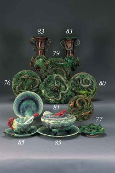 A Portugese pottery part seafo