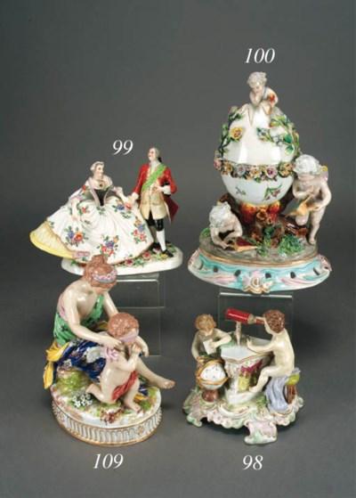 A German porcelain group emble