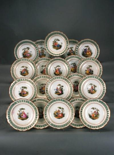 A German porcelain part desser
