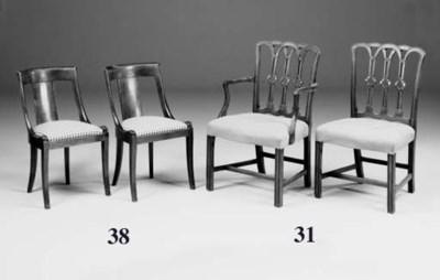 A set of six North European ma