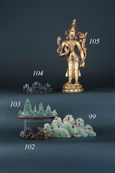 A Nepalese gilt bronze figure