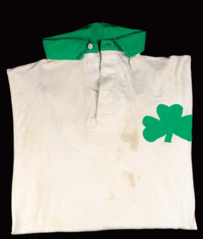 A white and green Celtic shirt