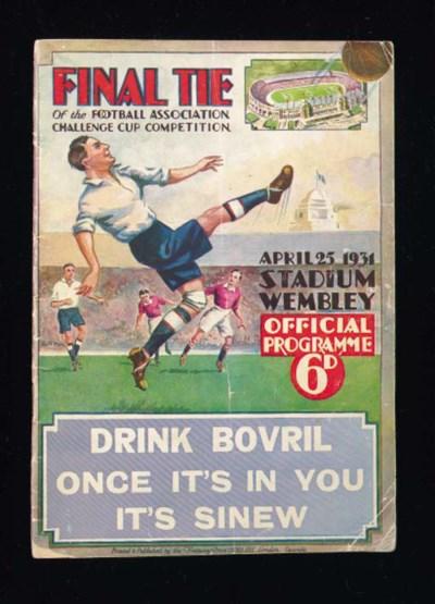 F.A.Cup final, match programme