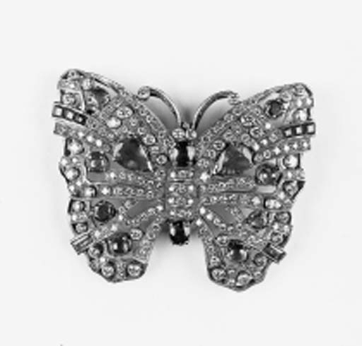 A diamond and gem butterfly br