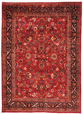 A fine Amoghli Meshed carpet,