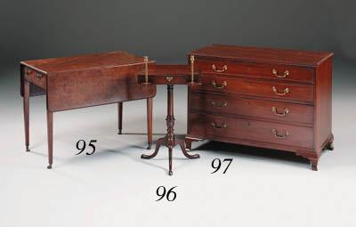 A mahogany dressing chest, 19t