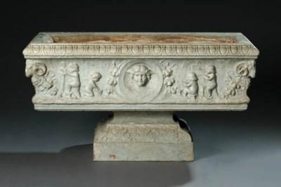 A Verona marble jardiniere, ea