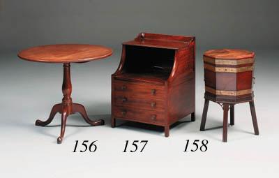 A Georgian mahogany and inlaid