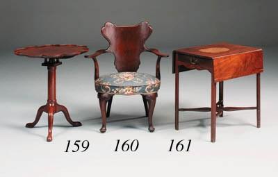 A mahogany supper table, possi
