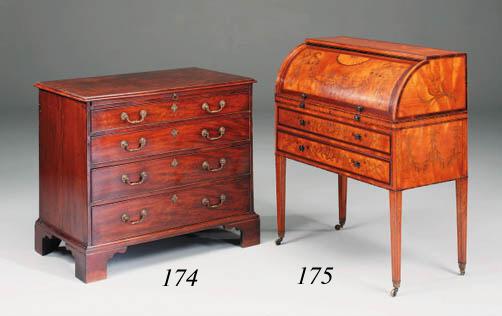 A George III satinwood and mar