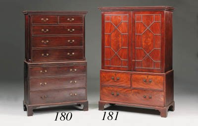 A George III mahogany chest on