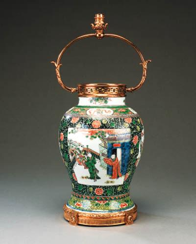 A Chinese porcelain baluster v
