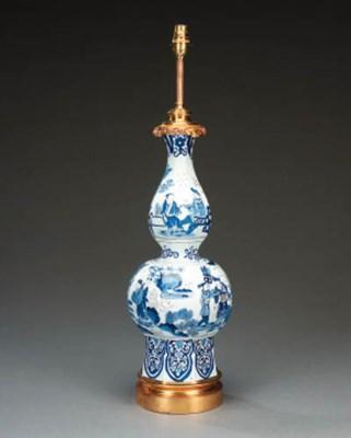 A Delft blue and white ceramic
