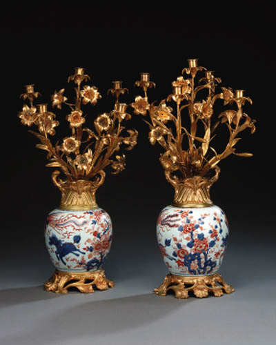 A pair of Chinese Imari 18th c