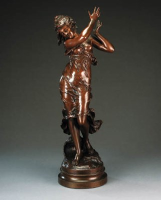 A French bronze figure of a da