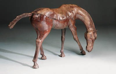 A large bronze model of a hors