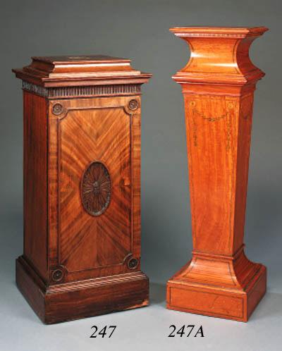 An Edwardian satinwood pedesta