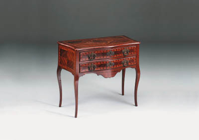 An Italian rosewood and marque