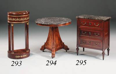 A French Empire mahogany and g